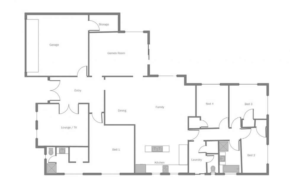 Floorplan of Homely house listing, 54 Griffin Lane, Usher WA 6230