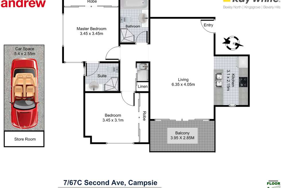 Floorplan of Homely apartment listing, 7/67C Second Avenue, Campsie NSW 2194