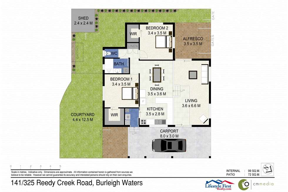 Floorplan of Homely house listing, 141/325 Reedy Creek Road, Burleigh Waters QLD 4220
