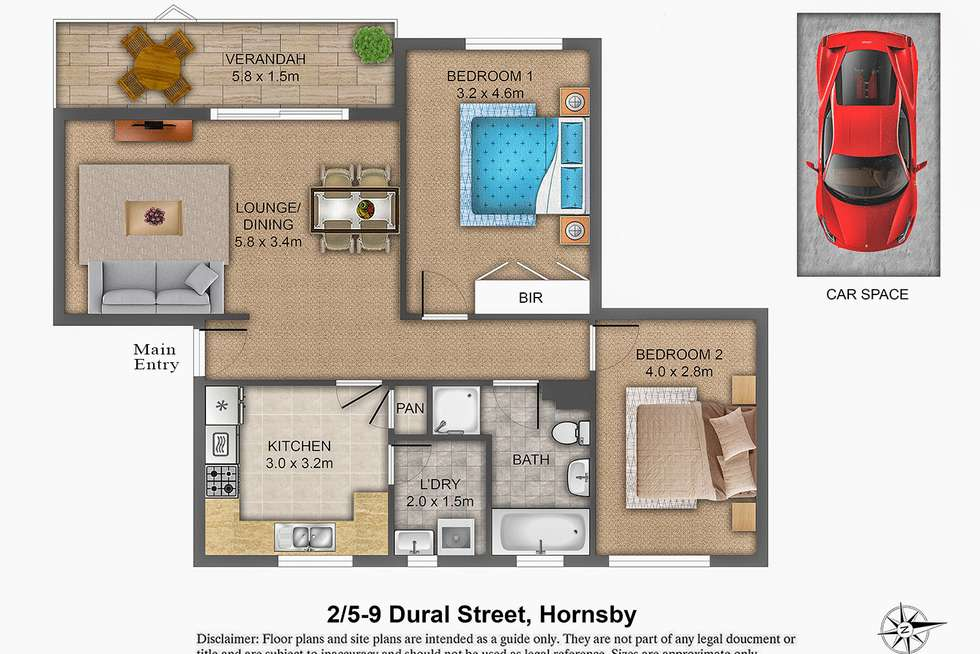 Floorplan of Homely unit listing, 2/5-9 Dural  Street, Hornsby NSW 2077