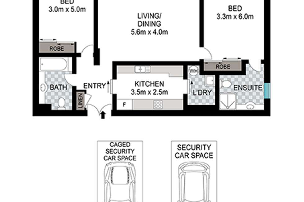 Floorplan of Homely apartment listing, 9/300 Riley Street, Surry Hills NSW 2010