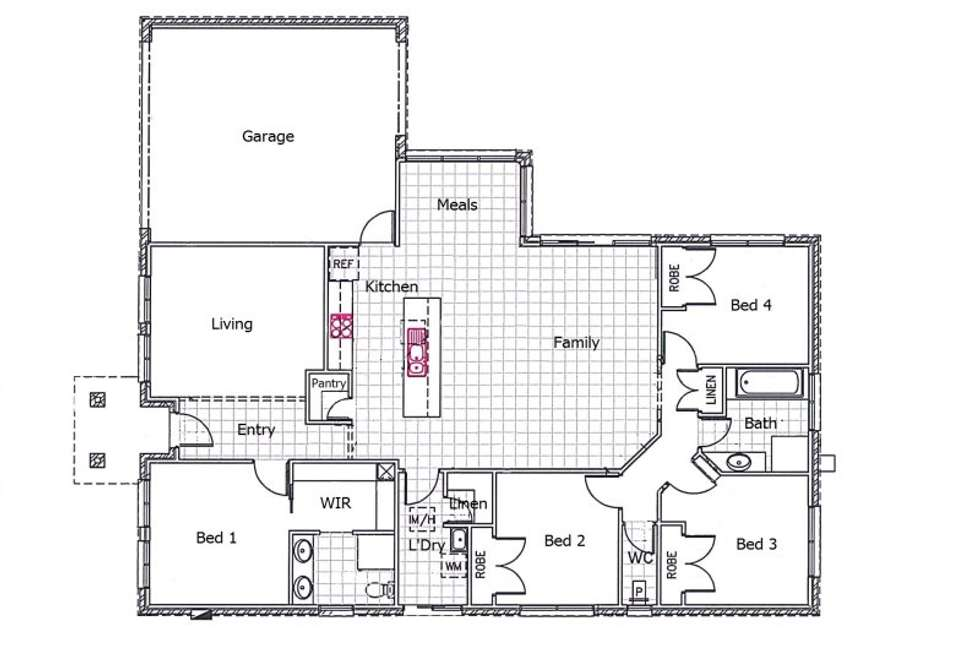 Floorplan of Homely house listing, 40 Cook Street, Drouin VIC 3818