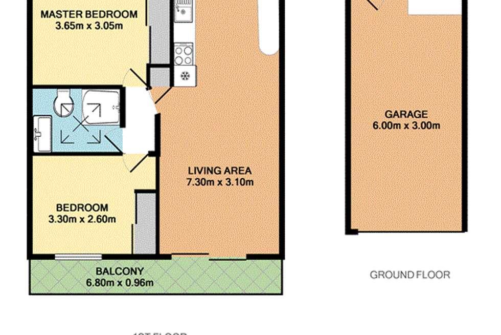Floorplan of Homely unit listing, 2/38 Alderson Street, Newmarket QLD 4051