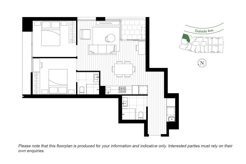 Floorplan of Homely apartment listing, 814/91 Galada Avenue, Parkville VIC 3052