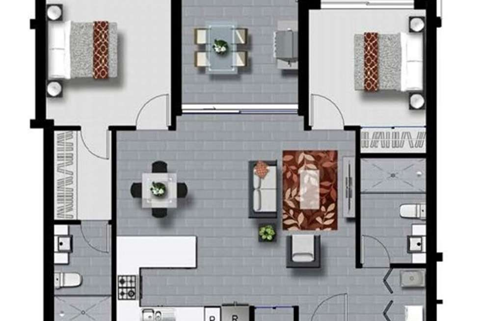 Floorplan of Homely apartment listing, 503/37 Connor Street, Kangaroo Point QLD 4169
