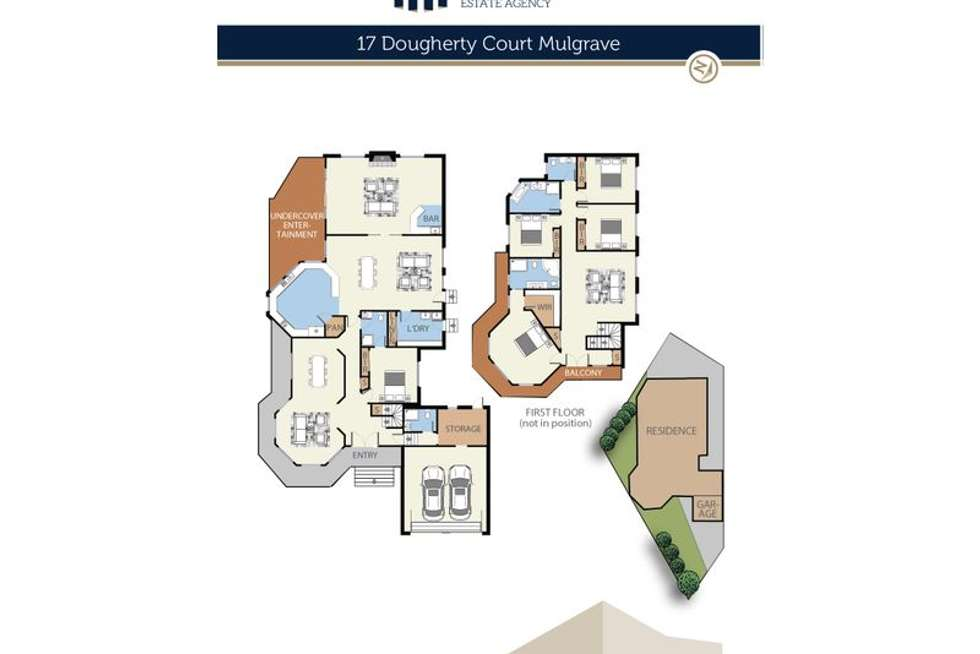 Floorplan of Homely house listing, 17 Dougherty Court, Mulgrave VIC 3170