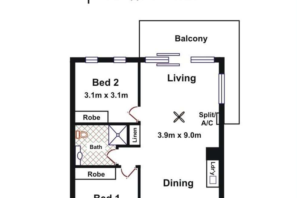 Floorplan of Homely apartment listing, 13/32-36 RIVERSIDE STREET, Mawson Lakes SA 5095