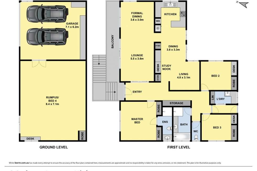 Floorplan of Homely house listing, 6 Cedmar Avenue, Highton VIC 3216