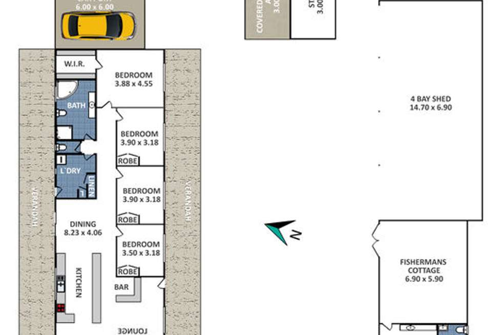 Floorplan of Homely acreageSemiRural listing, 310 Sir Thomas Mitchell Drive, South Bowenfels NSW 2790