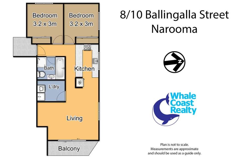 Floorplan of Homely apartment listing, 8/10 Ballingalla Street, Narooma NSW 2546