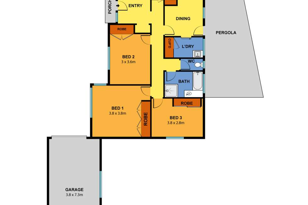 Floorplan of Homely house listing, 6 Torana Court, Hoppers Crossing VIC 3029