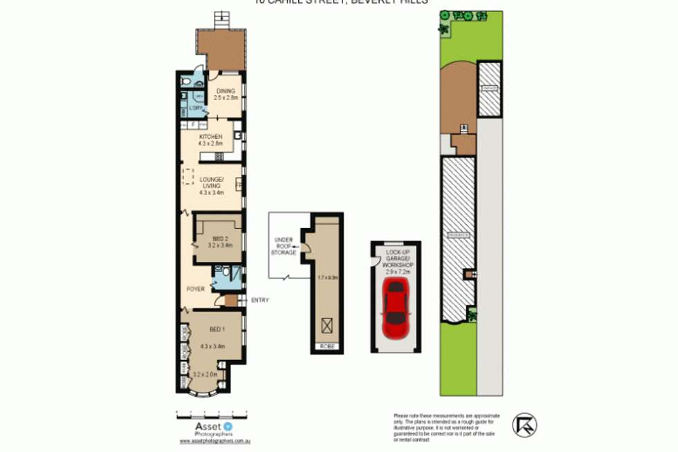 Floorplan of Homely semiDetached listing, 10 Cahill Street, Beverly Hills NSW 2209