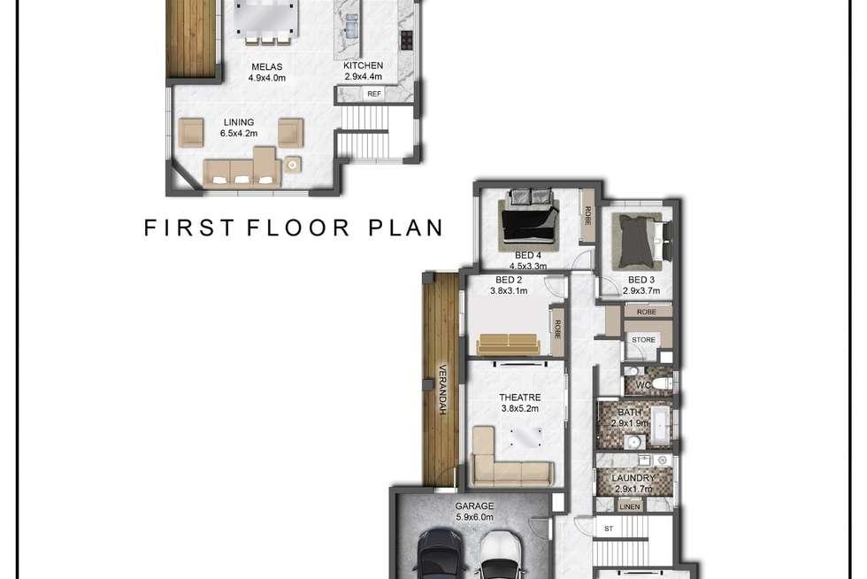 Floorplan of Homely house listing, 15 PARTRIDGE WAY, Wodonga VIC 3690