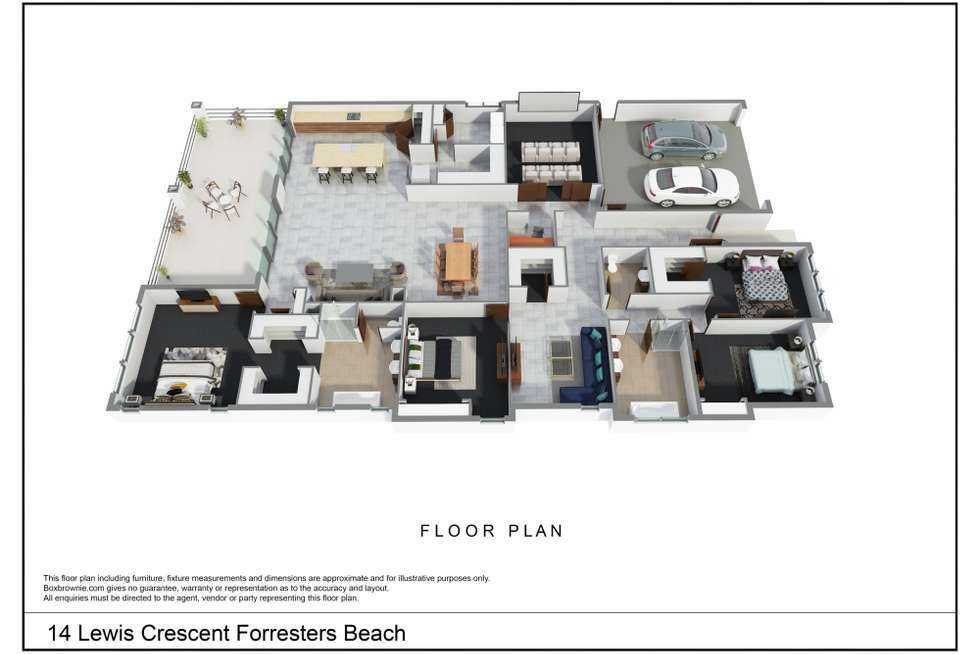 Floorplan of Homely house listing, 14 Lewis Crescent, Forresters Beach NSW 2260
