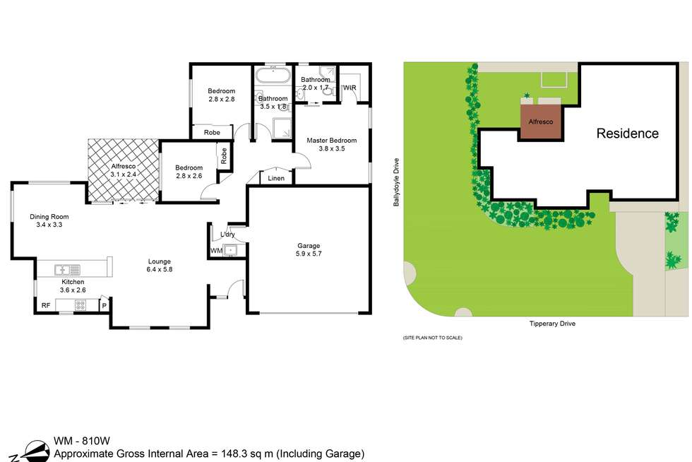 Floorplan of Homely house listing, 1 Tipperary Drive, Ashtonfield NSW 2323