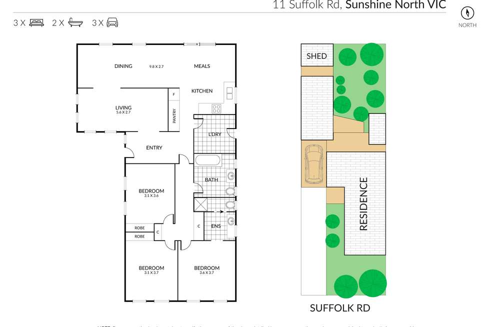 Floorplan of Homely house listing, 11 Suffolk Road, Sunshine North VIC 3020