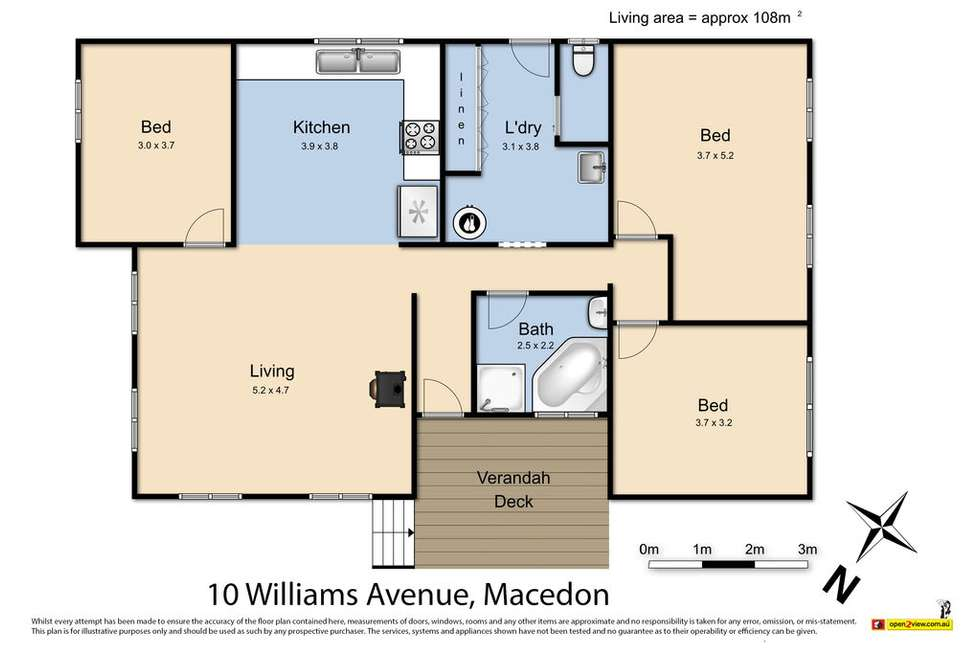 Floorplan of Homely house listing, 10 Williams Avenue, Macedon VIC 3440