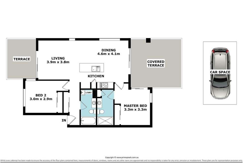 Floorplan of Homely apartment listing, 1 Linear Drive, Mango Hill QLD 4509