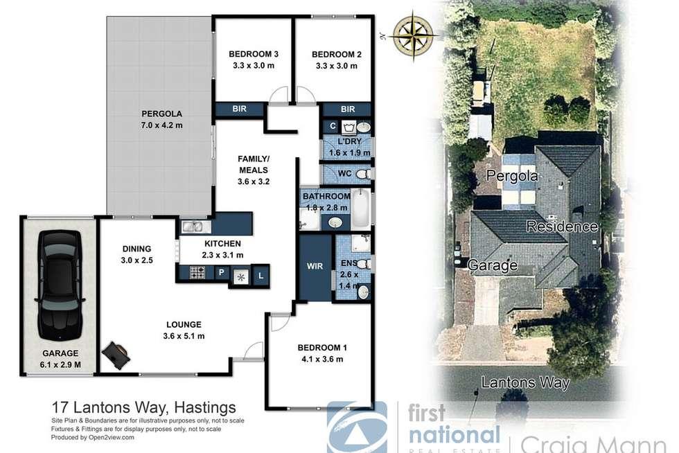 Floorplan of Homely house listing, 17 Lantons Way, Hastings VIC 3915
