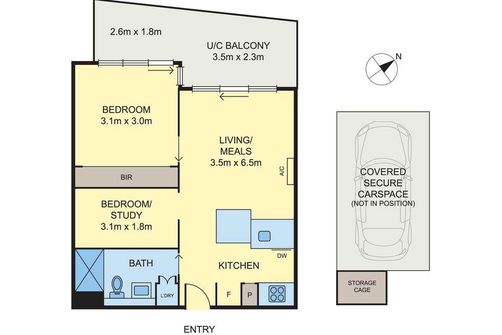 Floorplan of Homely apartment listing, 216/1 Westley Avenue, Ivanhoe VIC 3079