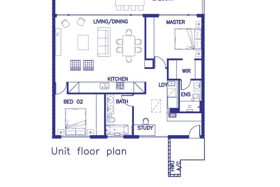 Floorplan of Homely apartment listing, Penthouse/6 Danks Street, Waterloo NSW 2017