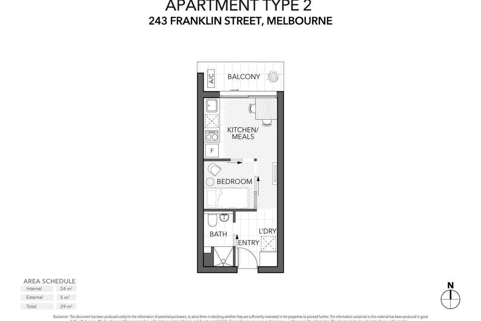 Floorplan of Homely apartment listing, 1302/243 Franklin Street, Melbourne VIC 3000