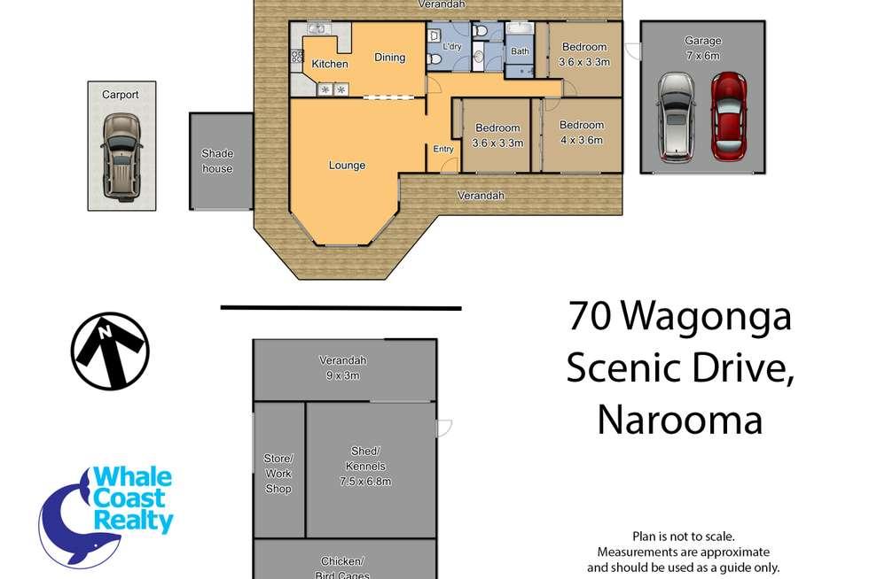 Floorplan of Homely acreageSemiRural listing, 70 Wagonga Scenic Drive, Narooma NSW 2546