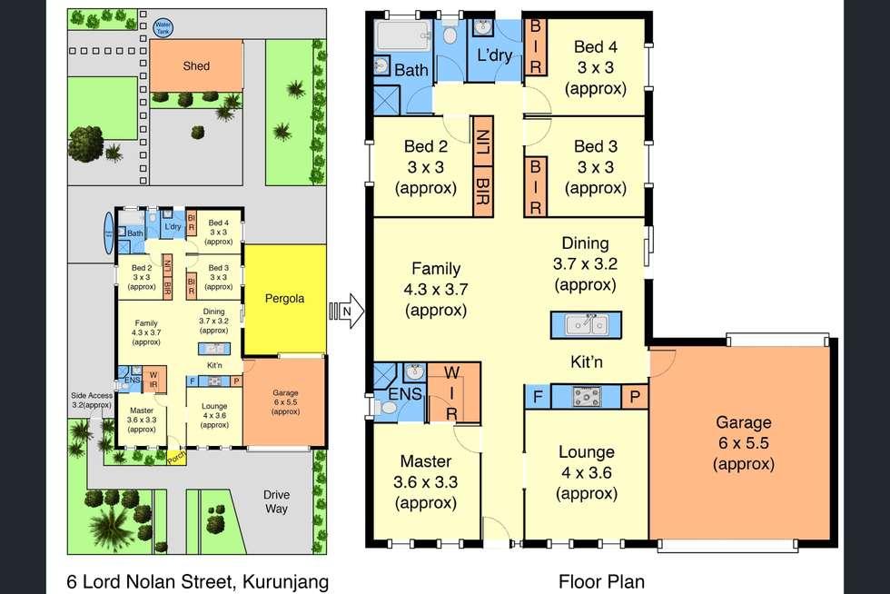Floorplan of Homely house listing, 6 Lord Nolan Street, Kurunjang VIC 3337