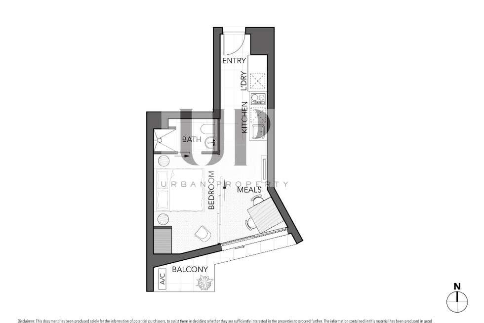 Floorplan of Homely apartment listing, 1005/243 Franklin Street, Melbourne VIC 3000