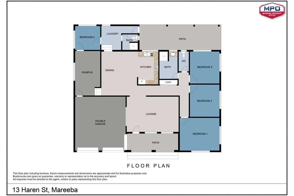 Floorplan of Homely house listing, 13 Haren Street, Mareeba QLD 4880