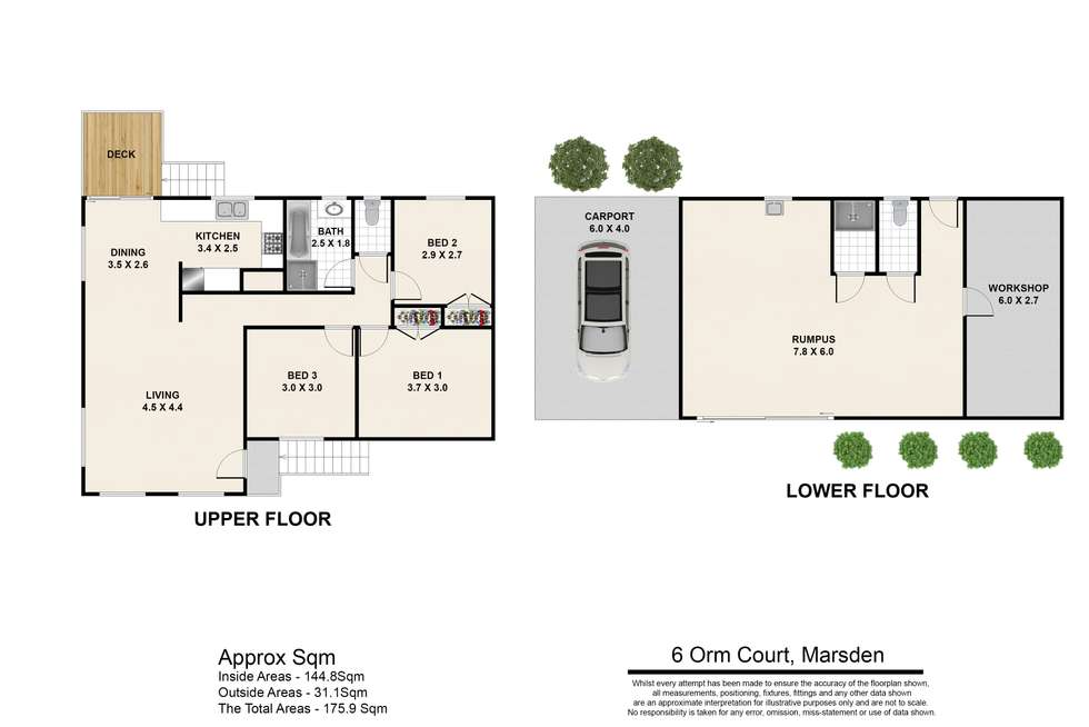 Floorplan of Homely house listing, 6 Orm Court, Marsden QLD 4132