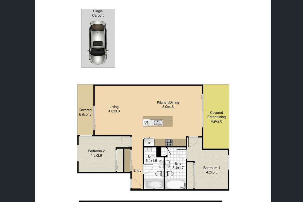 Floorplan of Homely apartment listing, 36/1 Linear Drive, Mango Hill QLD 4509