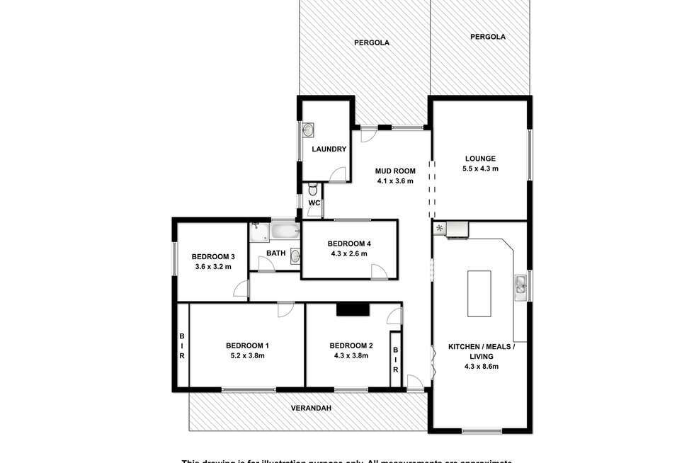 Floorplan of Homely lifestyle listing, 88 Whitty Road, Tantanoola SA 5280