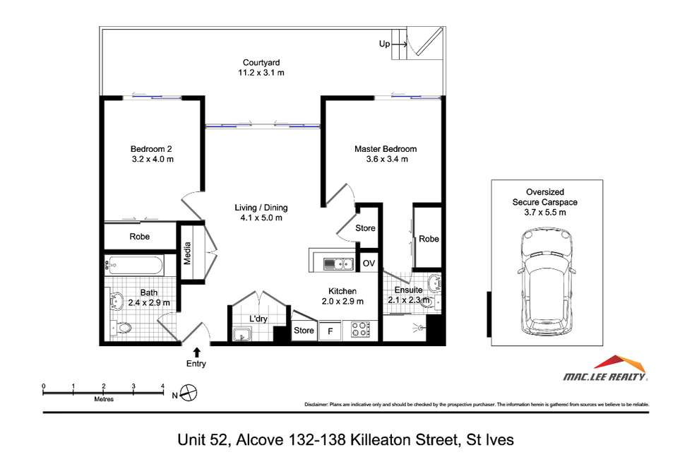 Floorplan of Homely apartment listing, 52/132-138 Killeaton Street, St Ives NSW 2075