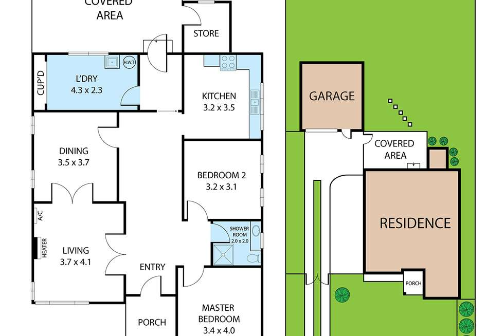 Floorplan of Homely house listing, 1071 and 1073 High Street, Reservoir VIC 3073