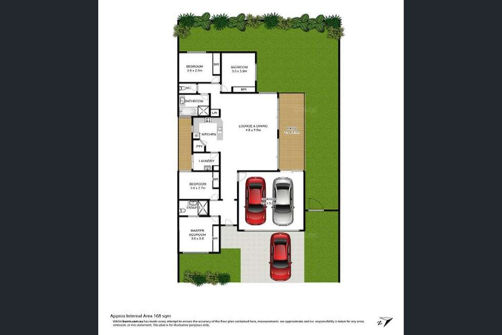 Floorplan of Homely house listing, 18 Melastoma Way, Arundel QLD 4214