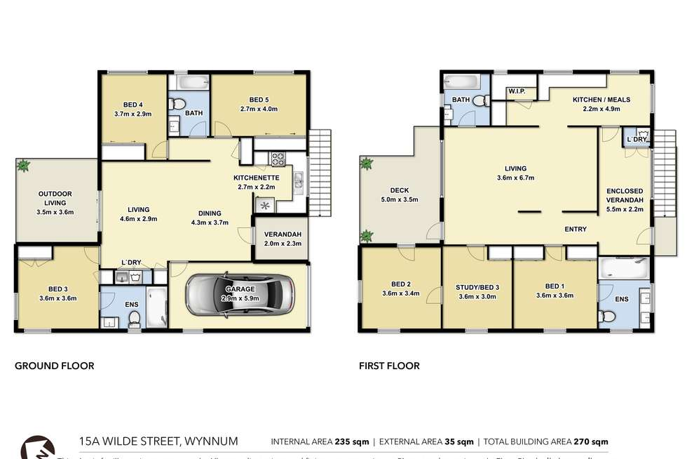 Floorplan of Homely house listing, 15A Wilde Street, Wynnum QLD 4178