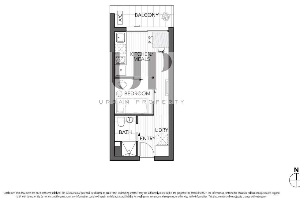 Floorplan of Homely apartment listing, 702/243 Franklin Street, Melbourne VIC 3000