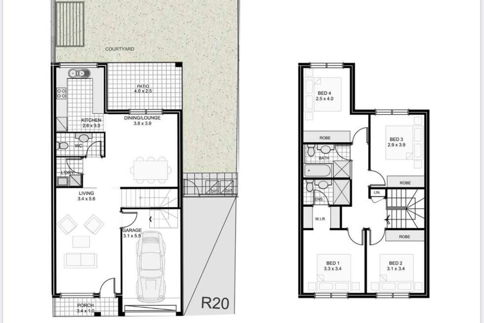 Floorplan of Homely townhouse listing, 20/570 Sunnyholt Road, Stanhope Gardens NSW 2768
