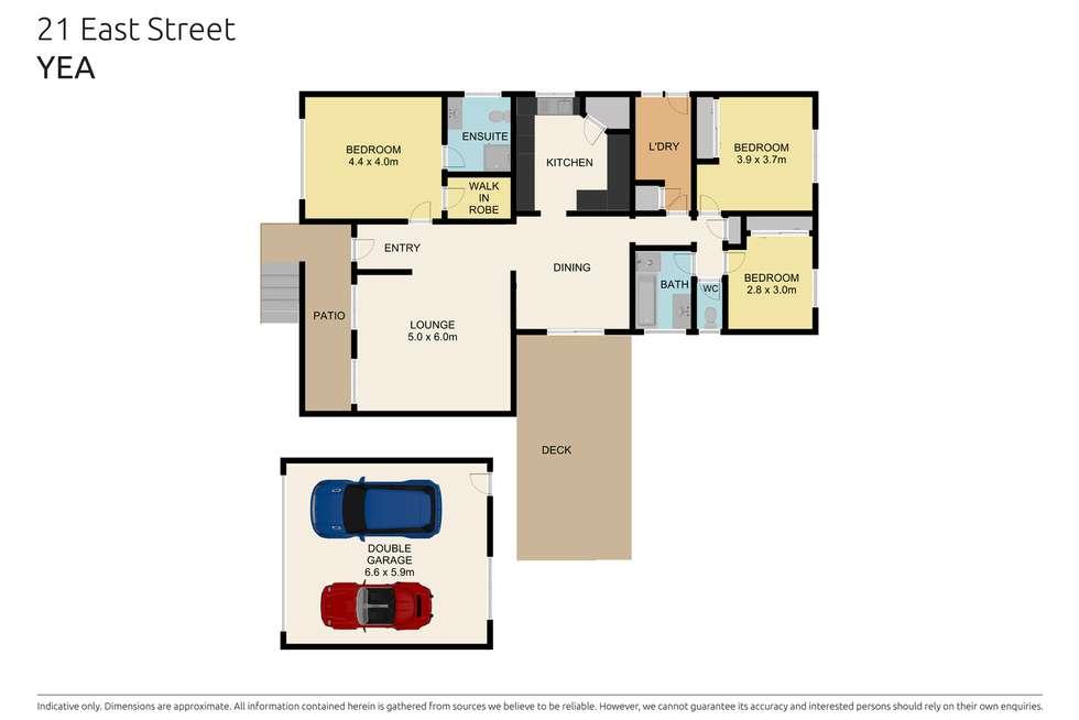 Floorplan of Homely house listing, 21 East Street, Yea VIC 3717