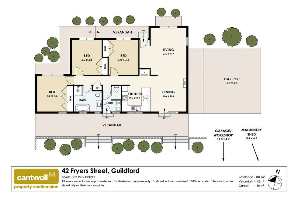 Floorplan of Homely house listing, 42 Fryers Street, Guildford VIC 3451