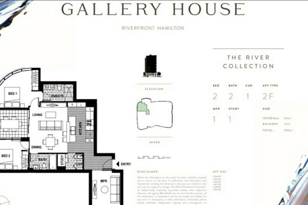 Floorplan of Homely apartment listing, 10505/7 Wharf Street, Hamilton QLD 4007