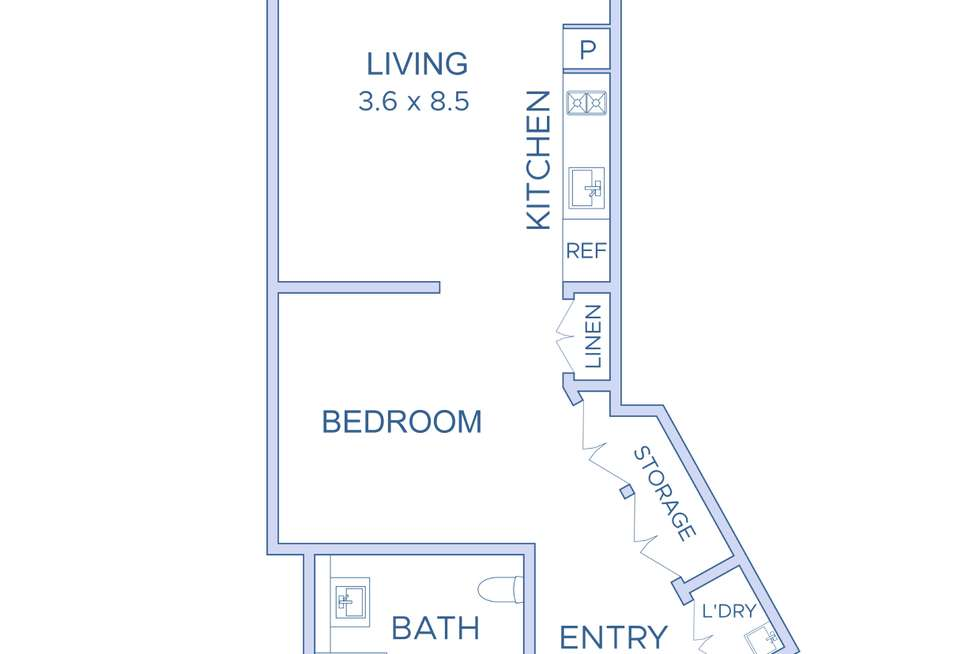 Floorplan of Homely apartment listing, 405/18 Bayswater Road, Potts Point NSW 2011