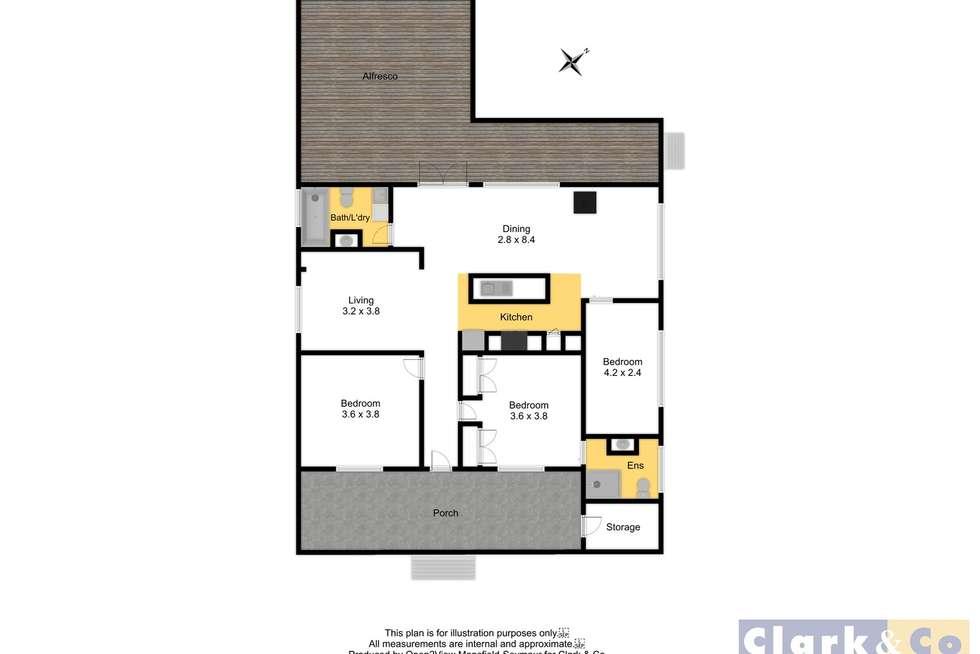 Floorplan of Homely house listing, 7 Rowe Street, Mansfield VIC 3722