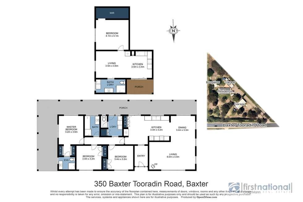 Floorplan of Homely acreageSemiRural listing, 350 Baxter Tooradin Road, Baxter VIC 3911