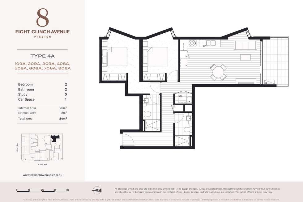 Floorplan of Homely apartment listing, 209A/6 Clinch Avenue, Preston VIC 3072