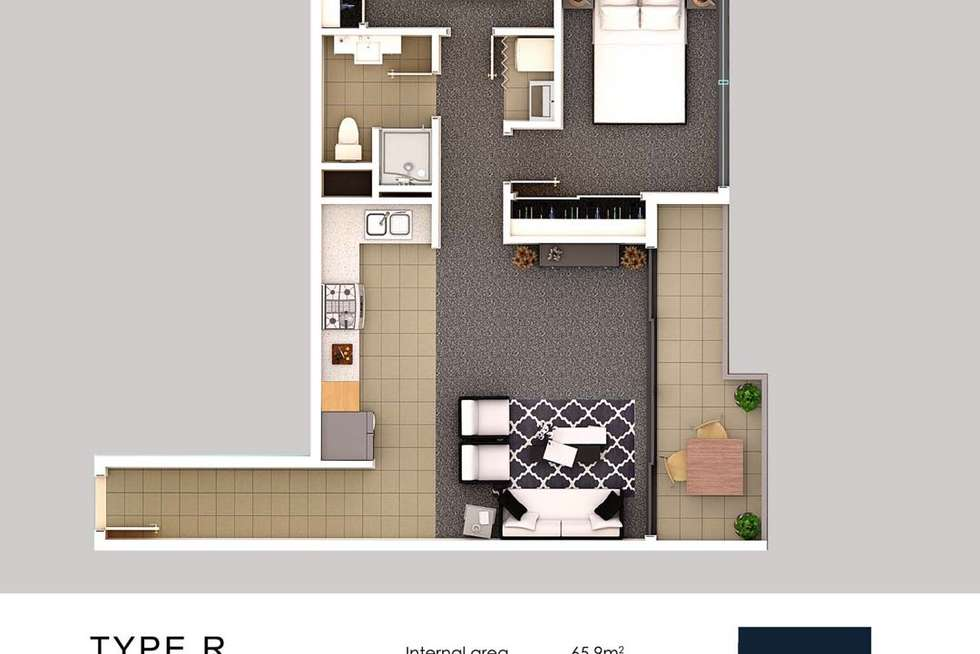 Floorplan of Homely apartment listing, 1801/152-160 Grote Street, Adelaide SA 5000