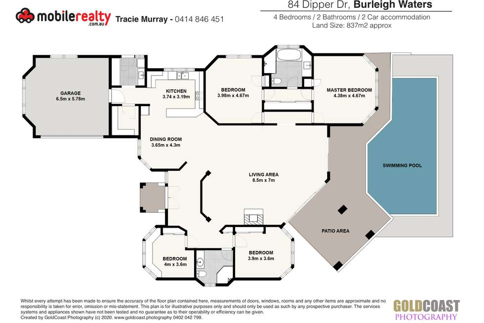 Floorplan of Homely house listing, 84 Dipper Drive, Burleigh Waters QLD 4220