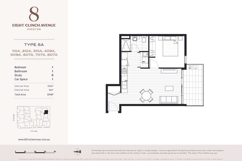 Floorplan of Homely apartment listing, 110A/6 Clinch Avenue, Preston VIC 3072