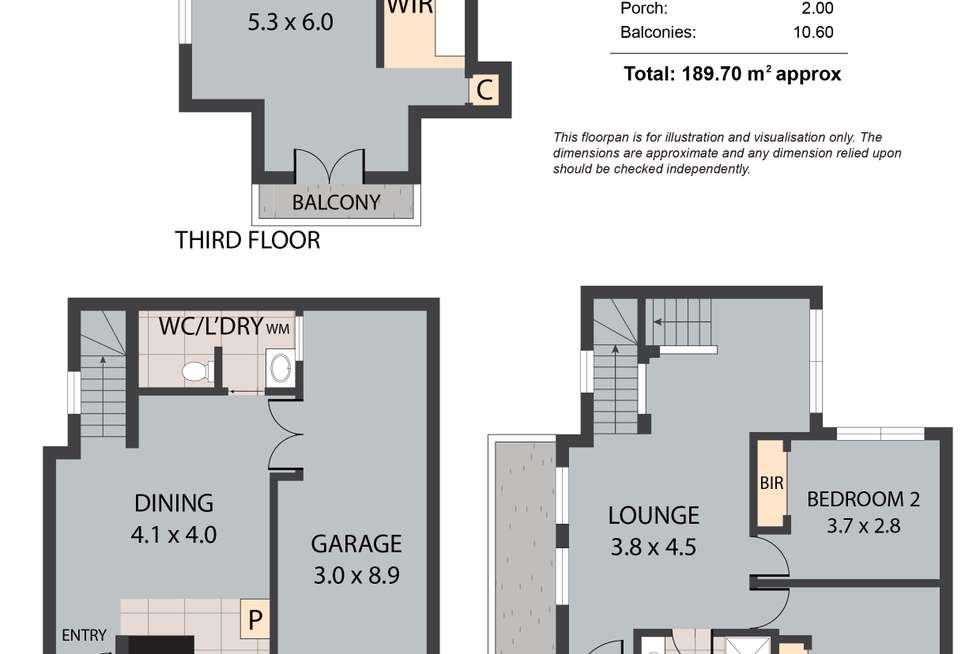 Floorplan of Homely townhouse listing, 267 Gouger Street, Adelaide SA 5000
